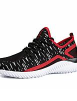 Men's Sneakers Spring Summer Comfort Tulle Outdoor Athletic Casual Flat Heel Gore Red Gray Black Running