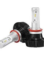 H11 levou faróis levou farol lâmpadas com 2 pcs de kits de conversão 25w / 2pcs 5000lm bridgelux cob chips luz de nevoeiro