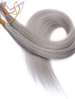 Color #Grey Flat Tip Hair Extensions 10A Best Quality Peruvian Remy Human Hair Keratin Fusion Hair Extensions Gray Nail Tip Hair 100 Strands 1g/Strand