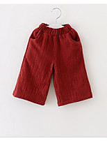 Girls' Casual/Daily Solid Pants-Linen Spring Fall