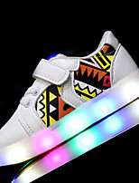 Kids Girls Boys' Sneakers Spring Summer Light Up Shoes First Walkers Leatherette Outdoor Athletic Casual Low Heel LED Walking