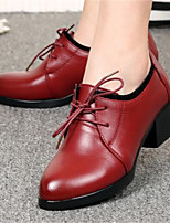 -Для женщин-Повседневный-Полиуретан-На толстом каблуке Блочная пятка-Удобная обувь-Обувь на каблуках