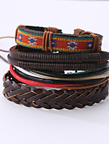 The New Vintage Cowhide Ancient Hand Woven Bracelet Cortical Layers Hand Rope Men's Bracelet Adjustable Size046