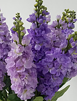 1 Branch Dried Flower Violet Tabletop Flower Artificial Flowers
