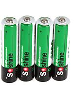 soshine 4pcs / pack Ni-mh aaa batterie batteries 1100mAh boîtier de batterie portable batterie rechargeable