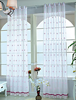 One Panel Curtain Designer Country Mediterranean Rococo Living Room Polyester Material Sheer Curtains Shades Home Decoration For Window