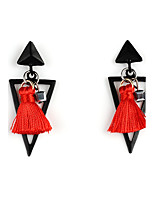 Drop Earrings Tassel Euramerican Alloy Geometric Triangle Shape Jewelry For Party Daily 1 pair