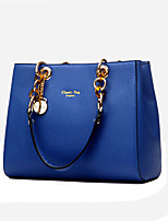 Women Tote PU All Seasons Formal Casual Event/Party Wedding Office & Career Weekend Bag Zipper Gray Ruby Black Blue