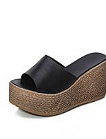 Women's Slippers & Flip-Flops Summer Comfort PU Casual Wedge Heel Walking