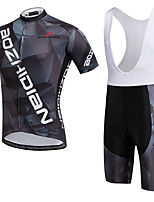 AOZHIDIAN Summer Cycling Jersey Short Sleeves BIB Shorts Ropa Ciclismo Cycling Clothing Suits #AZD138