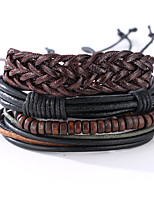 The New Vintage Cowhide Ancient Hand Woven Bracelet Cortical Layers Hand Rope Men's Bracelet Adjustable Size037