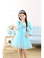 Girl's Casual/Daily Solid Dress,Nylon Summer Fall Long Sleeve