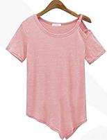 2016 aliexpress горячая косая клинчатая нерегулярная футболка