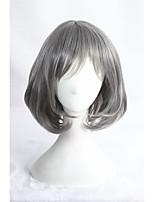droite courte perruque lolita anime 14inch synthétique gris cs-284a