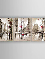 Hand-Painted  Landscape Set of 3 Canvas Oil Painting With Stretcher For Home Decoration Ready to Hang