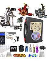 Complete Tattoo Kit 3 Machines G3A4Z10R1 Liner & Shader Dual LED Digital Power Supply