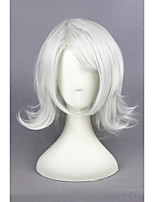 court argent bouclé blanc tokyo goule-Juzo Suzuya / rei 16inch synthétique perruque cosplay anime cs-195E