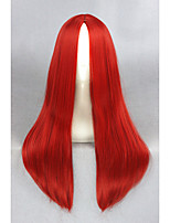 Medium Long Straight Red Synthetic 24inch Anime Cosplay WigCS-234D