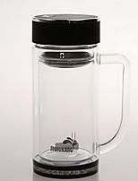 Transparent To-Go Drinkware 400 ml Reusable Glass Tea Tea Cup