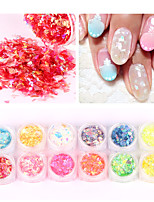 12pcs Candy Sequins Nail Art Glitter Festival Dance Party Nail Art Decoration