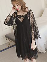 Women Lace Lingerie Nightwear,Lace Solid-Medium Nylon Women's