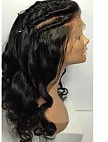 8а бесклеевой фронт шнурка человеческих волос париков бразильской волна тела девственных парики человеческих волос с ребенком волосами для