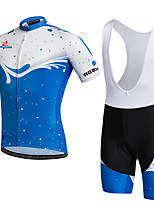 AOZHIDIAN Summer Cycling Jersey Short Sleeves BIB Shorts Ropa Ciclismo Cycling Clothing Suits #AZD147