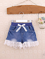 Girls' Casual/Daily Solid Shorts-Cotton Spring