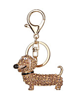 Key Chain Dog Key Chain Golden Black Metal