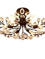 Op plafond bevestigd ,  Hedendaags Traditioneel /Klassiek Vintage Retro Landelijk Schilderen Kenmerk for Kristal LED MetaalWoonkamer