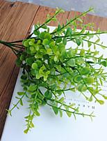 1 Ramo Plástico Couro Ecológico Plantas Flor de Mesa Flores artificiais 32