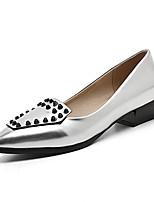 Feminino-Saltos-Sapatos clube-Salto Baixo-Prata Vermelho Champanhe-Couro Ecológico-Escritório & Trabalho Social Festas & Noite