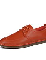 Белый Черный Оранжевый-Для мужчин-Для прогулок Для офиса Повседневный-Дерматин-На плоской подошве-Удобная обувь-Мокасины и Свитер