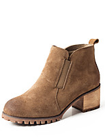 Frauen Stiefel Winter mary Jane PU Casual Chunky Ferse