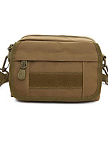 8 L Waist Bag/Waistpack Camping & Hiking Hunting Outdoor Wearable Brown Oxford