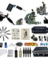Complete Tattoo Kit 4 Machines G4A2R4Z12Z10 Liner & Shader   Dual LED Digital Power Supply