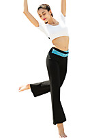 Yoga Pants Pants/Trousers/Overtrousers Bottoms Breathable Comfortable Natural Stretchy High Elasticity Sports Wear Black Women'sYoga