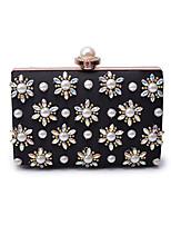 L.WEST Women's Luxury High-grade Flower Bead Diamonds Evening Bag
