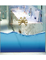 Octopus Seamless Splice 3D Seawater PVC Glass Stickers Decoration for The Bathroom