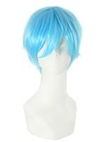 Licht bule Farbe gerade Haar europäischen cosplay synthetischen Perücken
