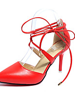 Women's Heels Spring Summer Club Shoes PU Wedding Party & Evening Dress Stiletto Heel Lace-up