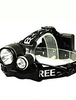 T6R2 Headlight Light Charge 10W LED Fishing Lights Bicycle Headlights with Battery Accessories Set of Three Lights