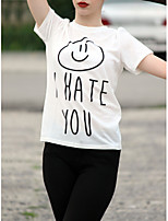 2017 Europe HATE YOU letters printed round neck short sleeve T-shirt