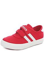 Белый Красный-Девочки-Для прогулок Повседневный-Полотно-На плоской подошве-Удобная обувь-Кеды
