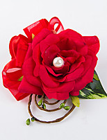 Ramos de Flores para Boda Forma Libre Rosas Ojales Boda Fiesta / noche Satén