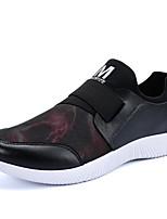 Hombre-Tacón Plano-Confort Suelas con luz-Zapatillas de deporte-Exterior Informal-Tul-Negro Rojo Azul