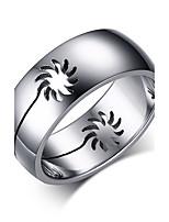 Кольцо Круг Сталь Круглой формы Серебряный Бижутерия Для Повседневные 1шт