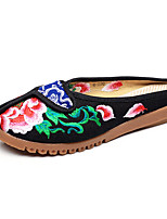 Women's Loafers & Slip-Ons Spring Summer Fall Comfort Fabric Casual Flat Heel Flower