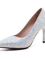 Белый Черный Синий-Для женщин-Свадьба Для офиса Для праздника-Лак Полиуретан-На шпильке-клуб Обувь-Обувь на каблуках