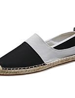 Черный Бежевый Синий-Для мужчин-Для прогулок Повседневный Для занятий спортом-Лён-На плоской подошве-Удобная обувь Светодиодные подошвы-
